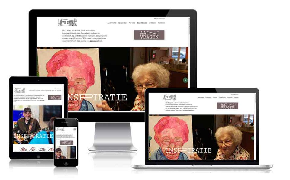 website Lang Leve Kunst Fonds